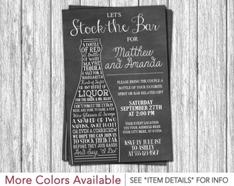 Stock the Bar Invitation - Engagement Party Invitations - Whiskey and Wine Party