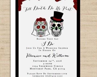 Till Death Do Us Part Invitation - Wedding Shower