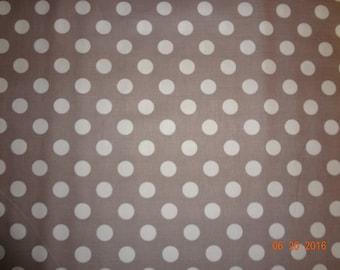 Medium Dots - White Dots on Gray Cotton Fabric by the yard - Riley Blake C360-40