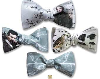 Virale by Dr. B. Darwin Tesla Reversible Bow Tie Evolution Science Finch Bowtie
