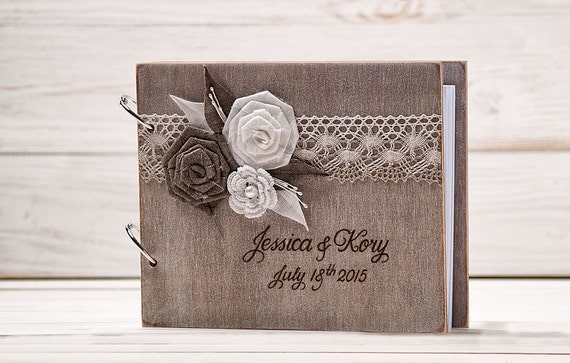 Wedding Guestbook Wood Wedding Guest Book Advice Book Rustic Guest Book Wood Guest Book
