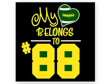 Football, Mom, My Hearts Belongs To, Numbers, Illustration, TShirt Design, Cut File, svg, pdf, eps, png, dxf