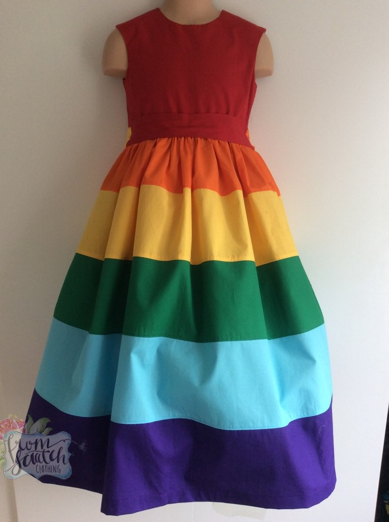 rainbow dress rainbow clothes