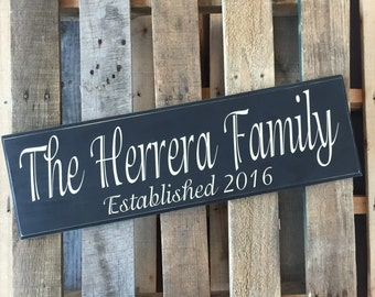 Family Plaque Adorable Font | Housewarming Gift | Personalized Wood Sign | Family Name Sign | Family Name | Wedding Gift | Personalized |