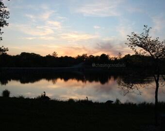 Iowa Sunset Photograph