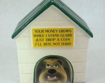 Vintage Porcelain Dog House Bank