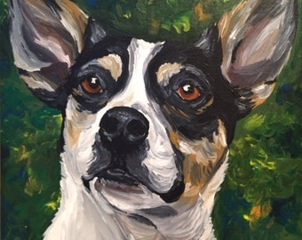 Custom Dog Painting Custom pet portrait on canvas