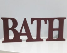 Unique bathroom word art related items | Etsy