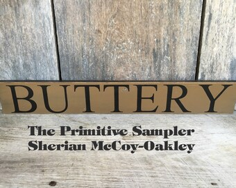 4x24 Buttery Sign
