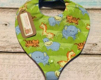 Jungle Safari Paci/Teether Bib