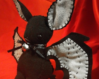 """Handmade """"I'm Batty for You!"""" Bat Plush"""