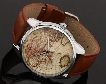 Watch ZIZ World Map brown