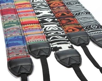 Camera Strap, dslr camera strap, nikon camera strap, canon camera strap, Vintage Camera Strap, Aztec Camera Strap, Leather Camera Strap