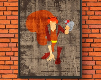 Minimalism Art - Squirrel Girl Print