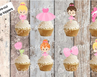 24 x Pre Cut Edible Ballerina Stand Up Cupcake Toppers