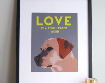 Yellow Lab Art, Yellow Lab Dog Art, Yellow Lab Print, Yellow Lab Portraits, Dog Illustration, Dog Portrait