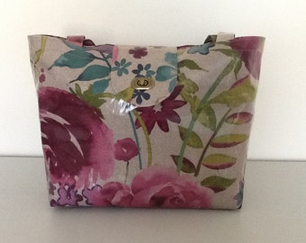 Oilcloth tote bag/shopping/lunch bag