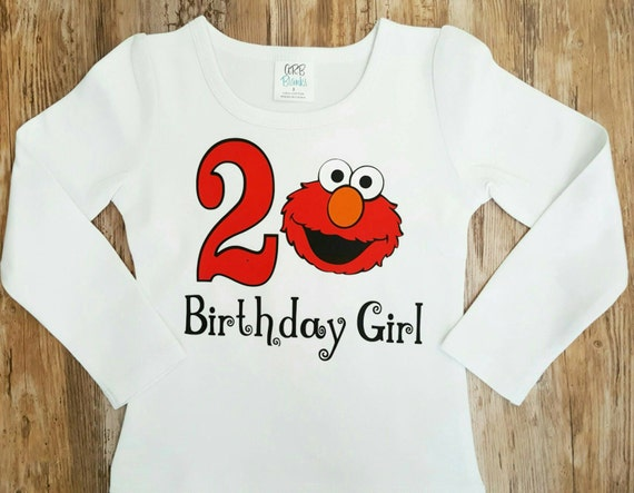 Personalized Girls Elmo Birthday Shirt 1st 2nd 3rd
