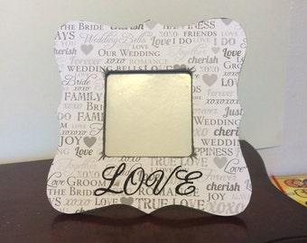 Custom Wedding picture frame,Engagement photo frame,custom picture frame,wedding picture frame,wedding gift,personalized picture frame