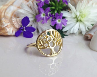 20% off- SALE!! Tree of Life Ring - Tree Ring - Branch Ring - Gold Ring - Simple Ring - Family Ring - Tree of Life Jewelry