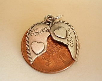 Sterling Silver TOGETHER FOREVER Charm
