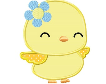 Baby Girl Chick... Applique Machine Embroidery DESIGN NO. 704