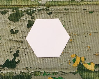 """1 1/4"""" Hexagons 100 Shapes English Paper Piecing Quilt Templates"""