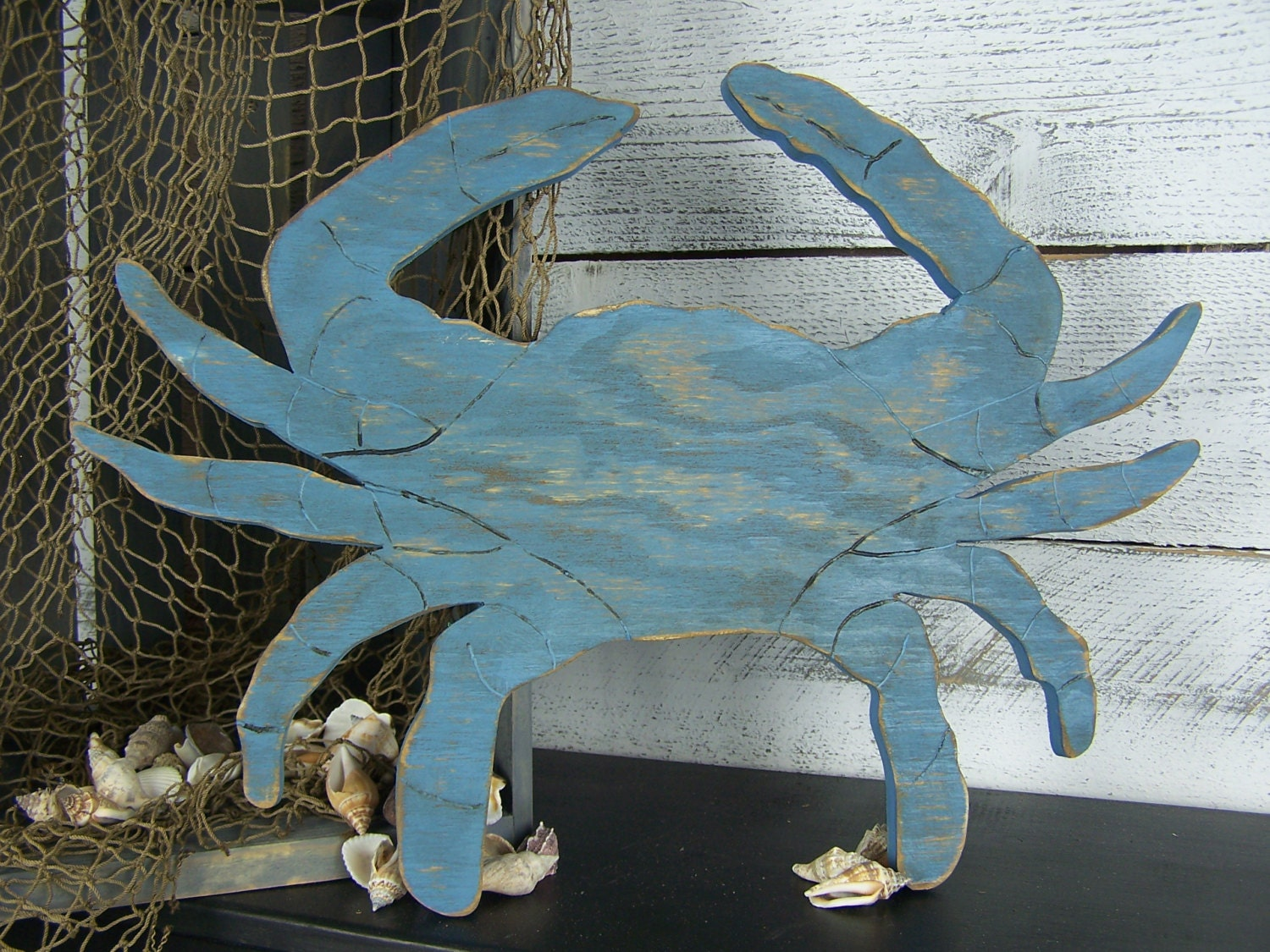 Blue crab decor crab sign wooden crab wall art seafood sign zoom amipublicfo Images
