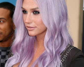 Exclusive 8A Remy Clip In Human Hair Extensions Pastel Purple All Lengths & Weights Available