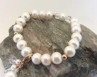 genuine cultured pearl bracelet