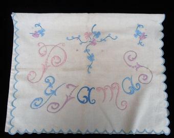Vintage Embroidered Pyjama Case.