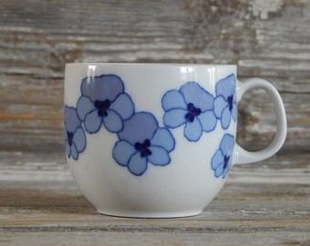 Set of 3 Vintage Espresso Cup Arzberg Porcelain Factory Cup 1980 s. Porcelain Tableware, Made in Germany