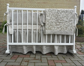 Gender neutral bedding set /// Crib bedding, Nursery bedding, Cot bedding