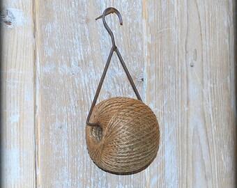 Jute Ball Pendant