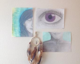 "Mixed Media Art 9x12 ""Meditation Series (Part 1)"""