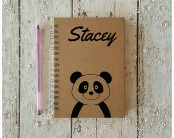 A6 Notebook, Jotter, Notepad, Little Notebook, Custom Made, Pocketbook, Small Notebook, Personalised Gift, School Supplies, Panda Notebook