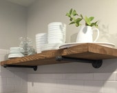 """Custom order for Nicole - 1- 12"""" x 24"""" Industrial Floating Shelf with 2 pipe supports and mounting screws"""