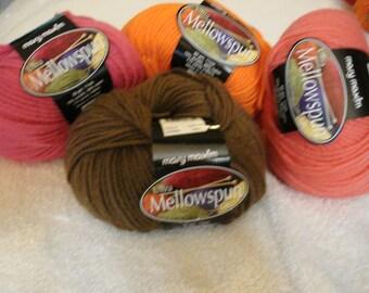 Mary Maxim® Ultra Mellowspun Yarn Pt 1, PLEASE check desciption for color quantities available
