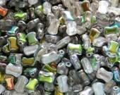 Crystal Vitrail 2-Hole CoCo Horizontal Beads (50)
