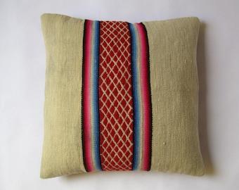 Peruvian recycled pillow, cushion lumbar(16x16 pulgadas) (40 x 40 cm) CR-103