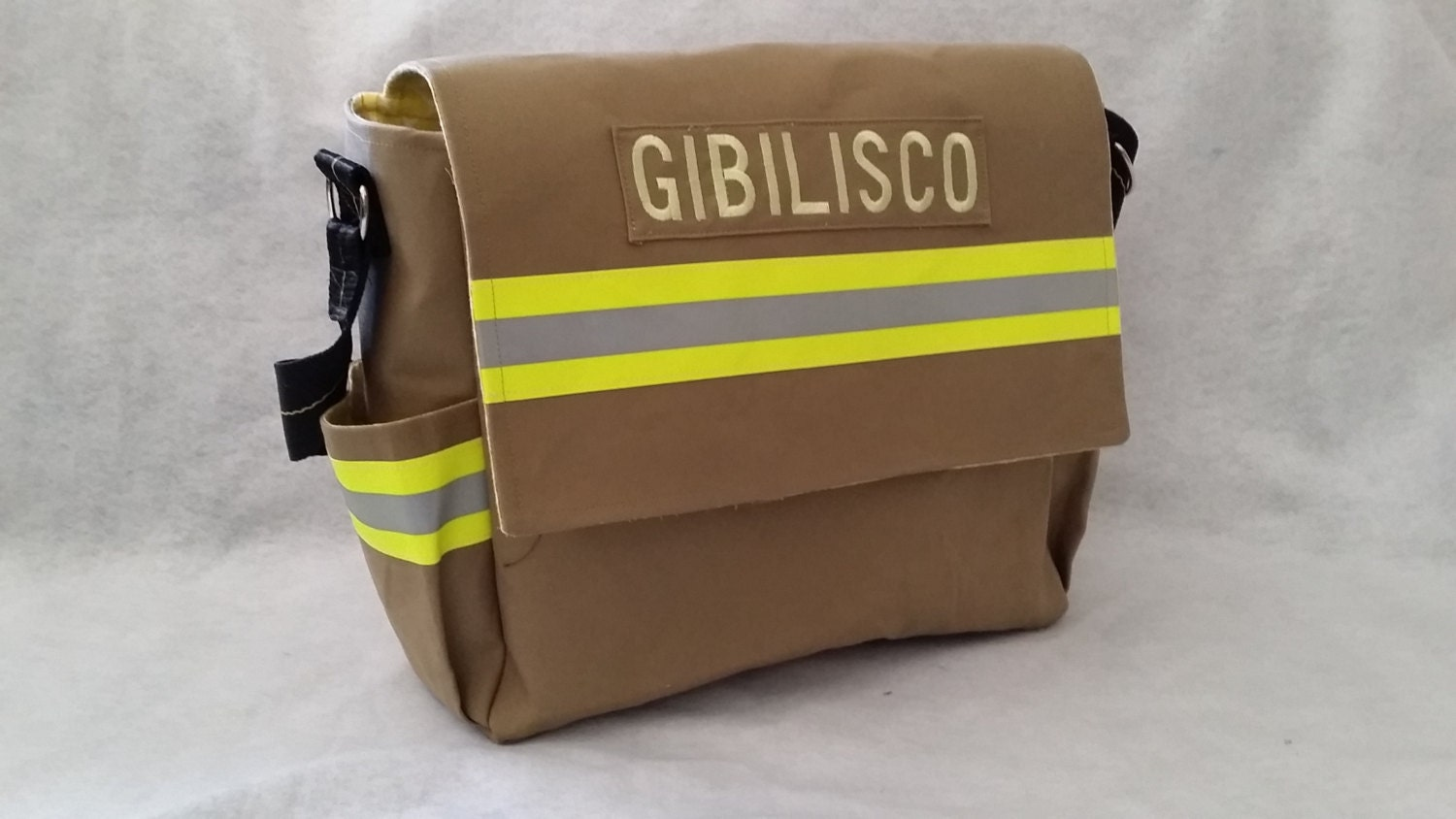 Recycled bunker gear bags - Like This Item