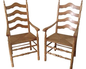Vintage Tall Country King wood Dining/side Chairs