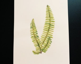 Minimalistic fern - Original Watercolour