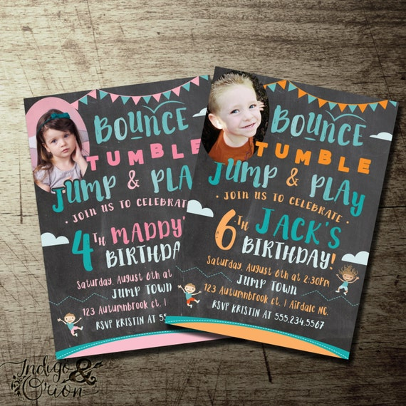 Trampoline Party Invitations: Jump Birthday Invitation Trampoline Party Invitations