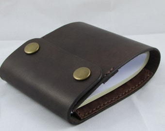 leather checkbook cover with card holder brown