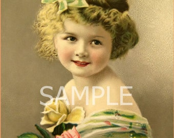 Digital Download File *Vintage Girl * 12-252