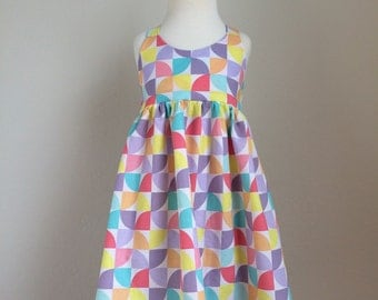 The Olivia Dress - Sherbet Pinwheels - Made to Order