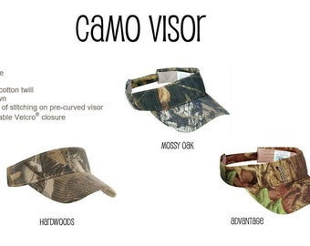 Blank Camo Visor Hat