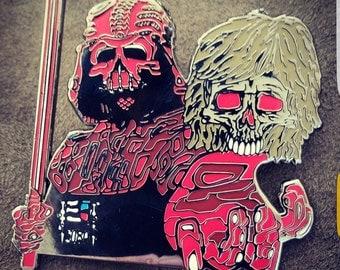 Bad Guys Win pin series - Vader/Skywalker LE75 Tom Loranz Art pin