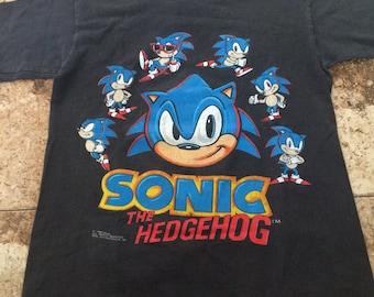 Vtg 90s SONIC THE HEDGEHOG Kids Shirt